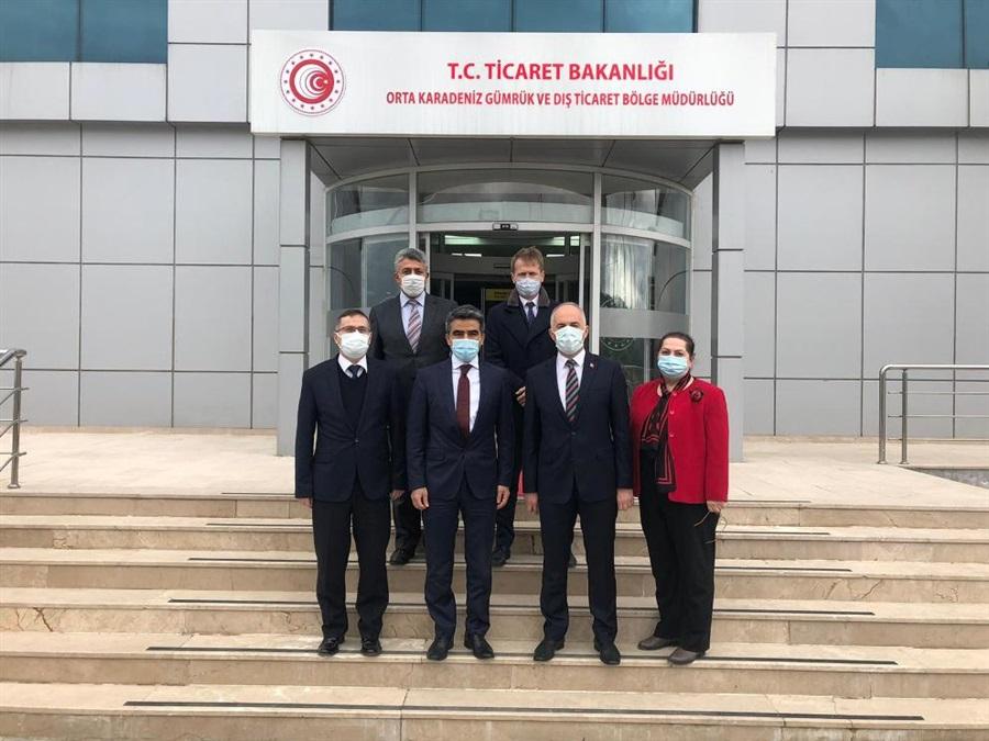 Gümrükler Genel Müdürü Sayın Mustafa GÜMÜŞ ve Daire Başkanı Sayın Kerem EROL'un Bölge Müdürlüğümüzü Ziyareti.